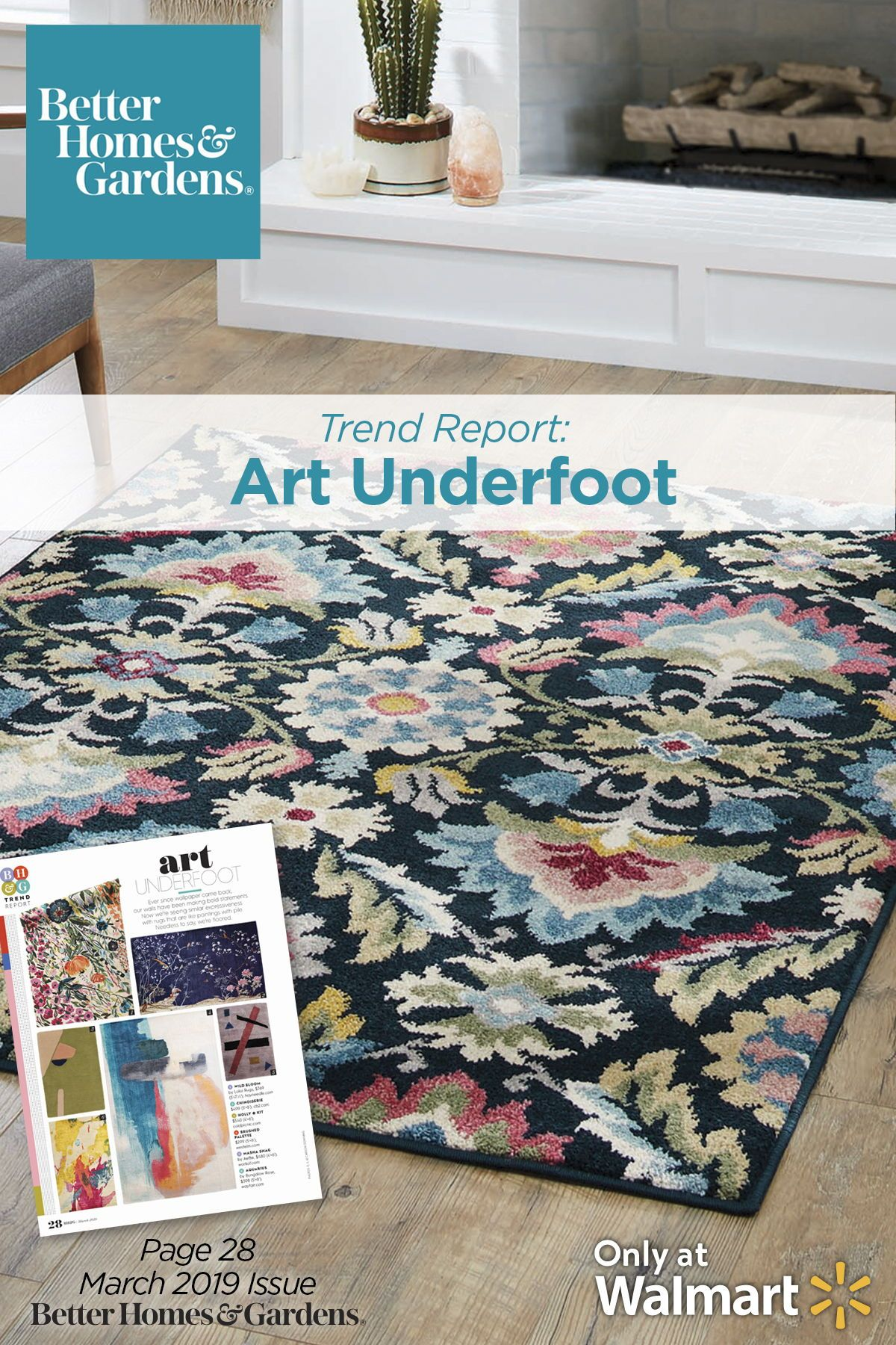 Art Underfoot Trend Bhg Trend Better Homes Gardens Area