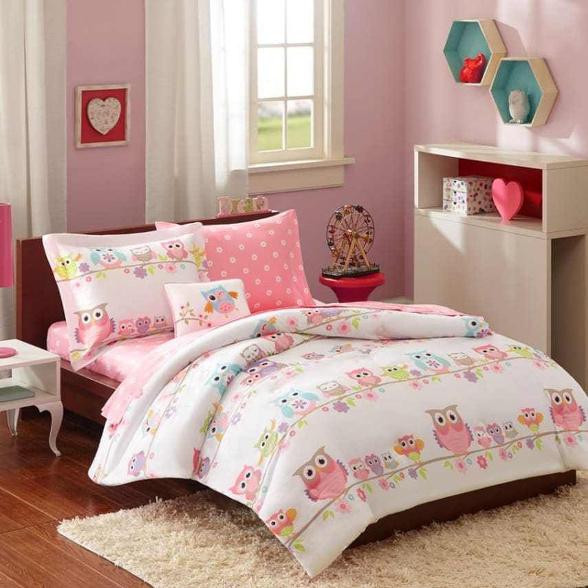 Bedding Sets Full For Girls Teens Owls Flowers Kids Bed In
