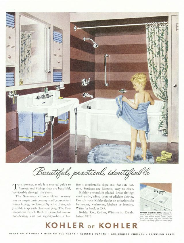 Kohler Colors The 1950s Vintage Bathrooms Vintage Bath