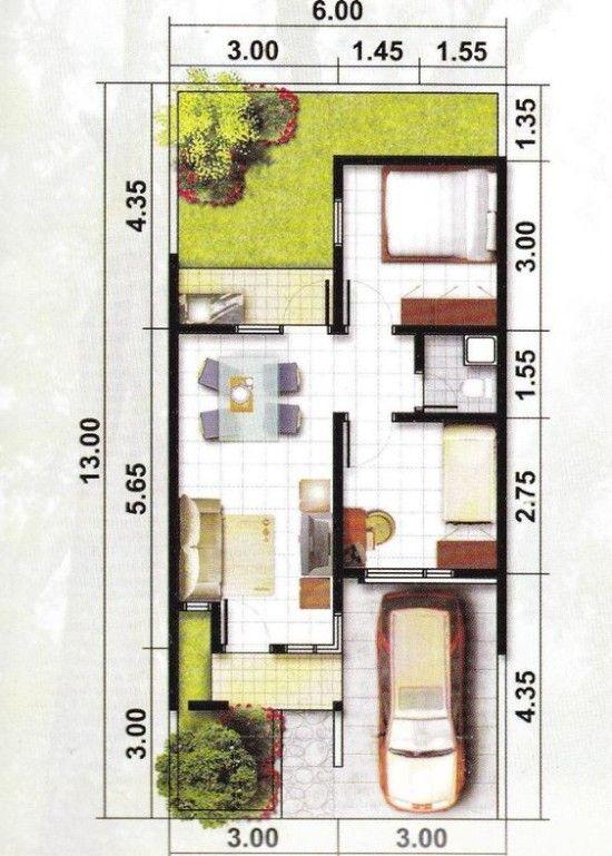 13 Ide Rumah Type 45 Lebar 6 M Rumah Rumah Minimalis Arsitektur Rumah