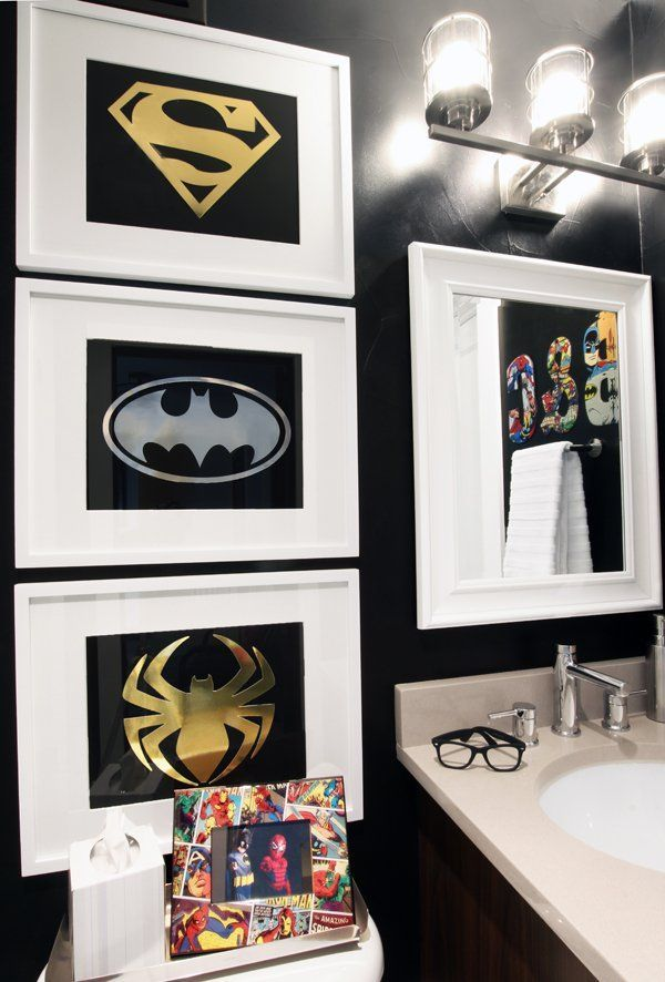 Exceptionnel I Created A Superhero Bathroom That Will Grow With My Boys With Black Paint  And Fixtures From @lowes! #AD PaintWithLowes