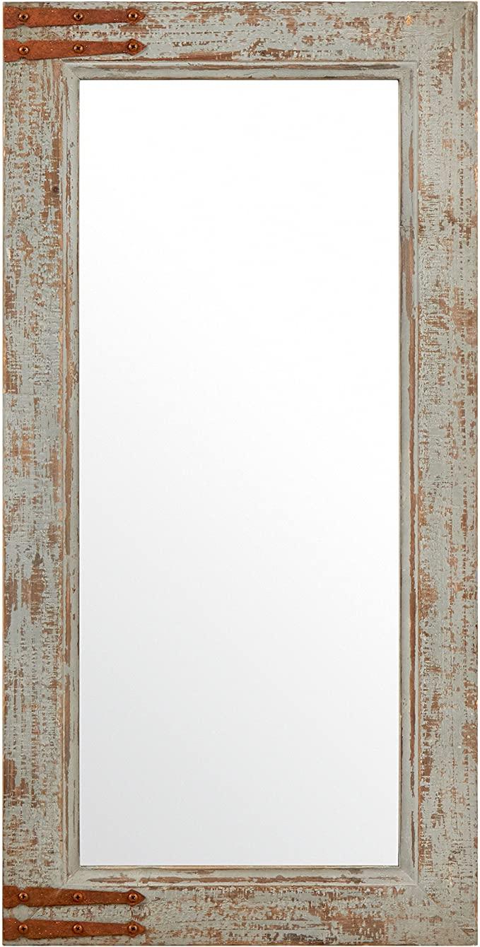 Amazon Com Stone Beam Vintage Look Rectangular Hanging Wall Frame Mirror Decor 36 25 Inch Height Gray Hom Frames On Wall Vintage Mirror Wall Mirror Decor