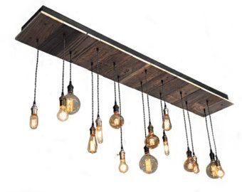 15 light reclaimed wood chandelier edison style bulbs rustic 15 light reclaimed wood chandelier edison style bulbs rustic lighting bar lighting aloadofball Gallery