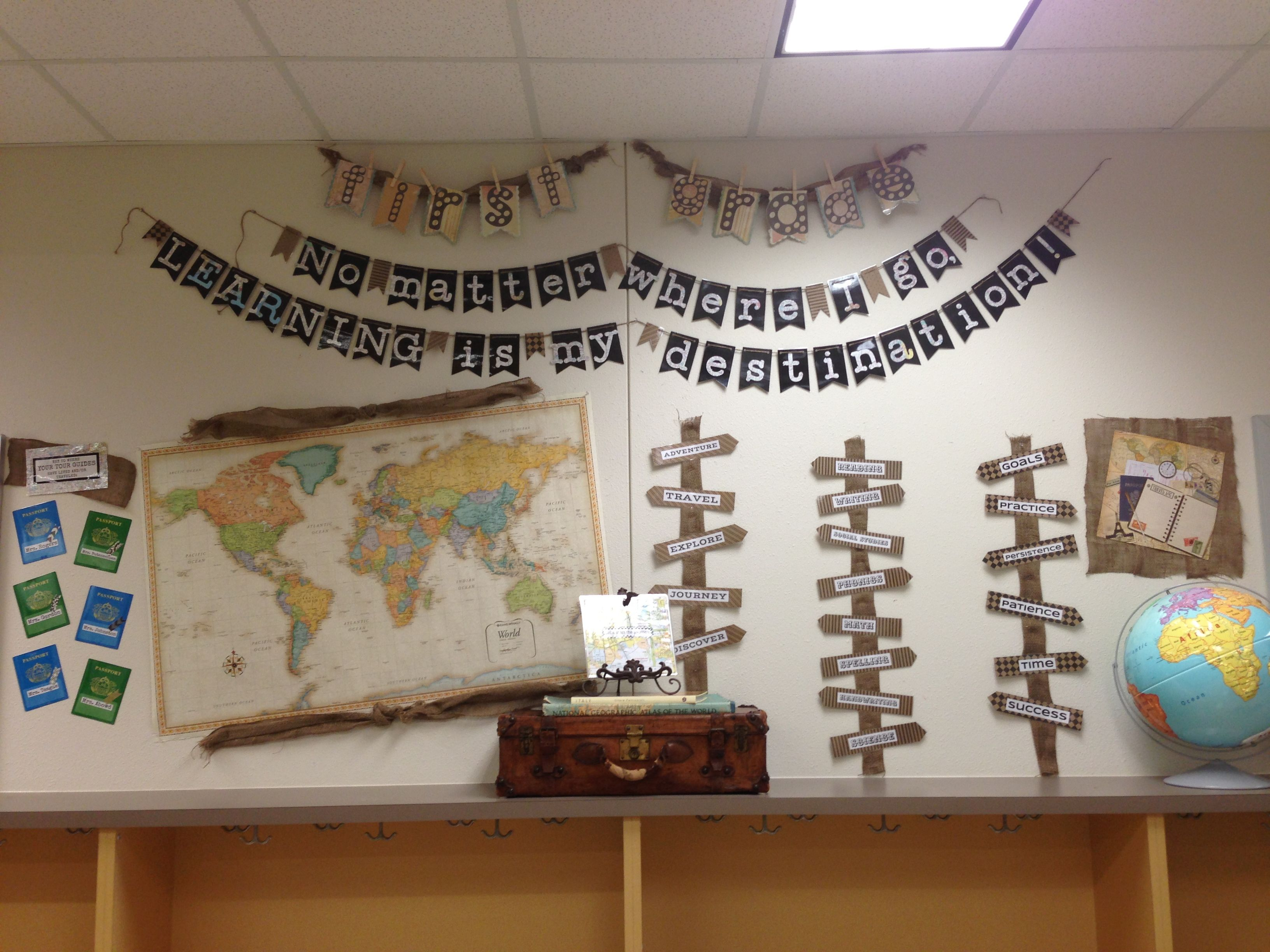 World History Classroom Decorations ~ First grade travel theme pinterest