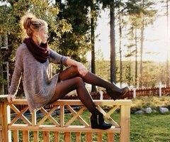 This is so cute for fall fashion but I would change the shoes