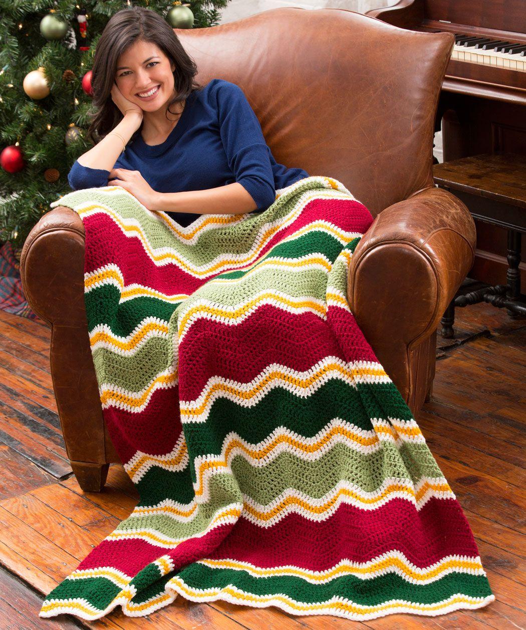 Holiday chevron throw free crochet pattern from red heart yarns holiday chevron throw free crochet pattern from red heart yarns bankloansurffo Choice Image