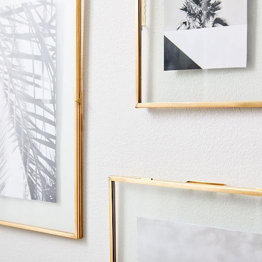 Terrace Floating Frames Antique Brass Floating Picture Frames Picture Frame Wall Clear Picture Frames