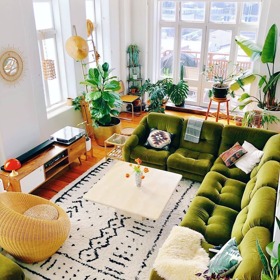 """@homedecor_hippie on Instagram: """"Via: 💥@bohemiandecors💥 🌿The work of art blends perfectly with all those green babies 💚 . Follow us💥 @homedecor_hippie💥 for more . . . .…"""""""