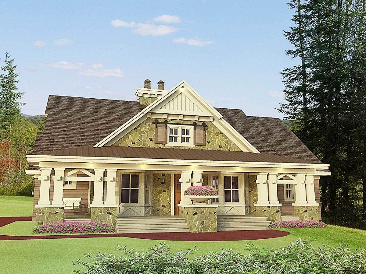 Plan 14604rk Beautifully Designed Craftsman Home Plan Craftsman Style House Plans Bungalow Style House Family House Plans