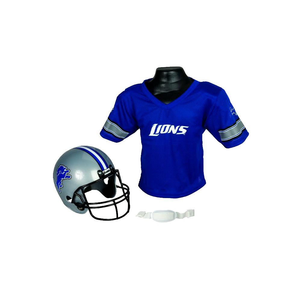 finest selection 38f65 6ab0b Franklin Sports NFL Team Helmet and Jersey Set - Ages 5-9 - Detroit Lions,  Kids Unisex, Size  Medium