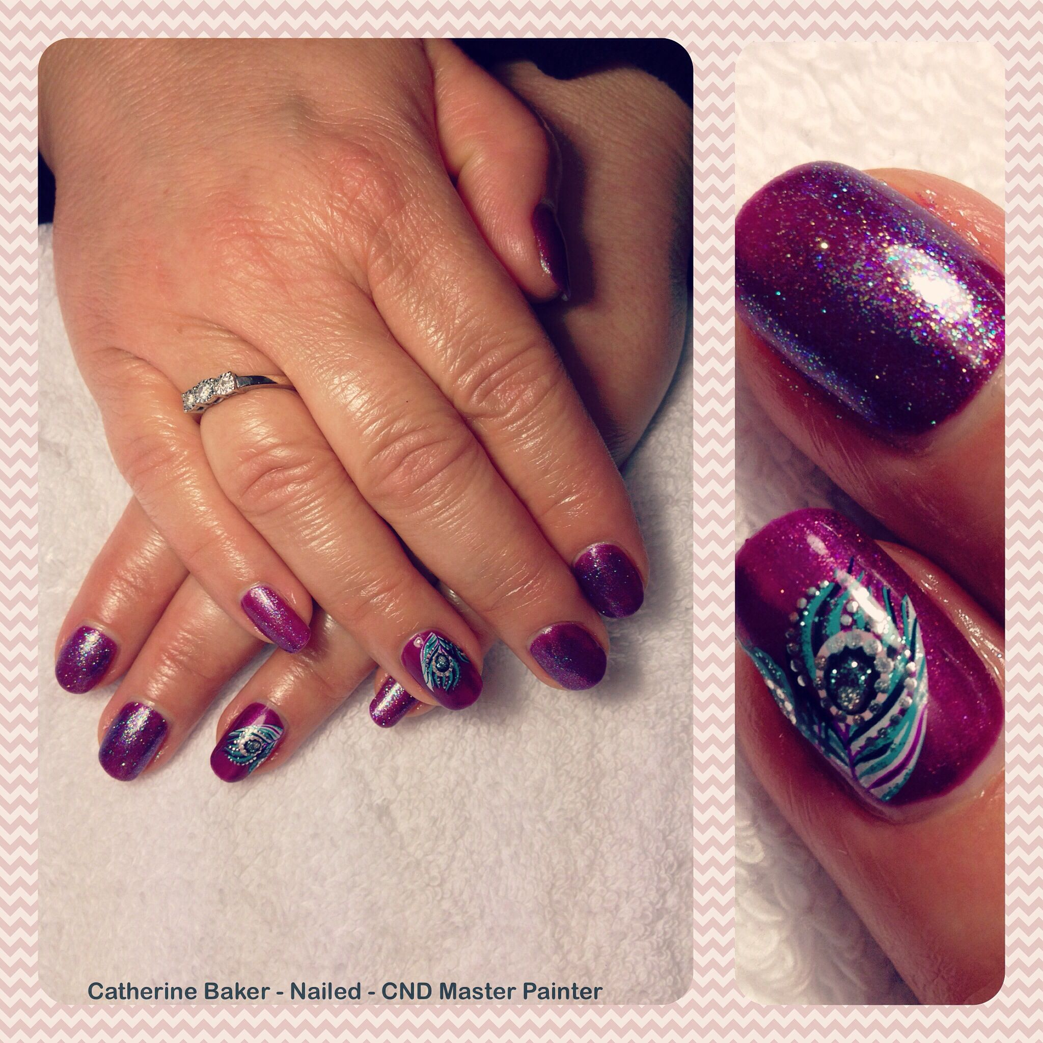 CND Shellac Tango Passion with Sizzling Sand Dashing Diva Accents ...