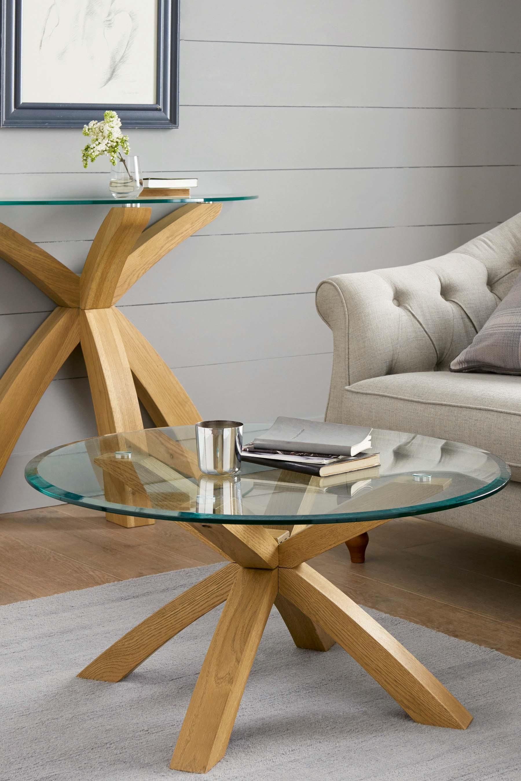 Best Buy Oak And Glass Round Coffee Table From The Next Uk 640 x 480