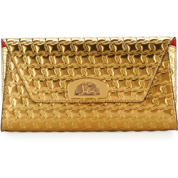 5c312e4561e Christian Louboutin Vero Houndstooth-Embossed Clutch Bag ($1,335 ...