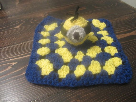 Cute Minion Snuggie security blanket | Crochet Items I make | Pinterest