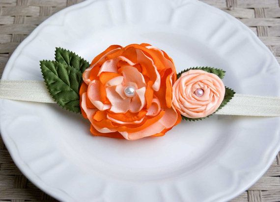 Orange Bouquet Infant to Adult Headband by 3BCircus on Etsy