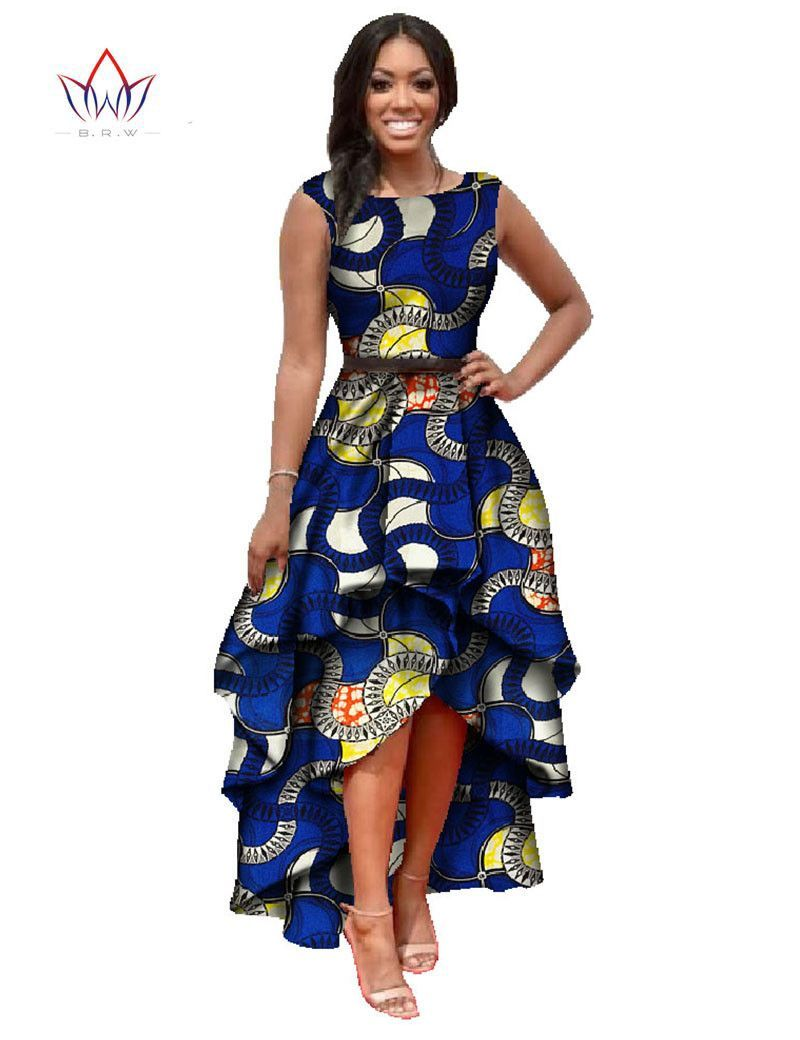 African dashiki ankara dresses with cascading ruffle closet wish