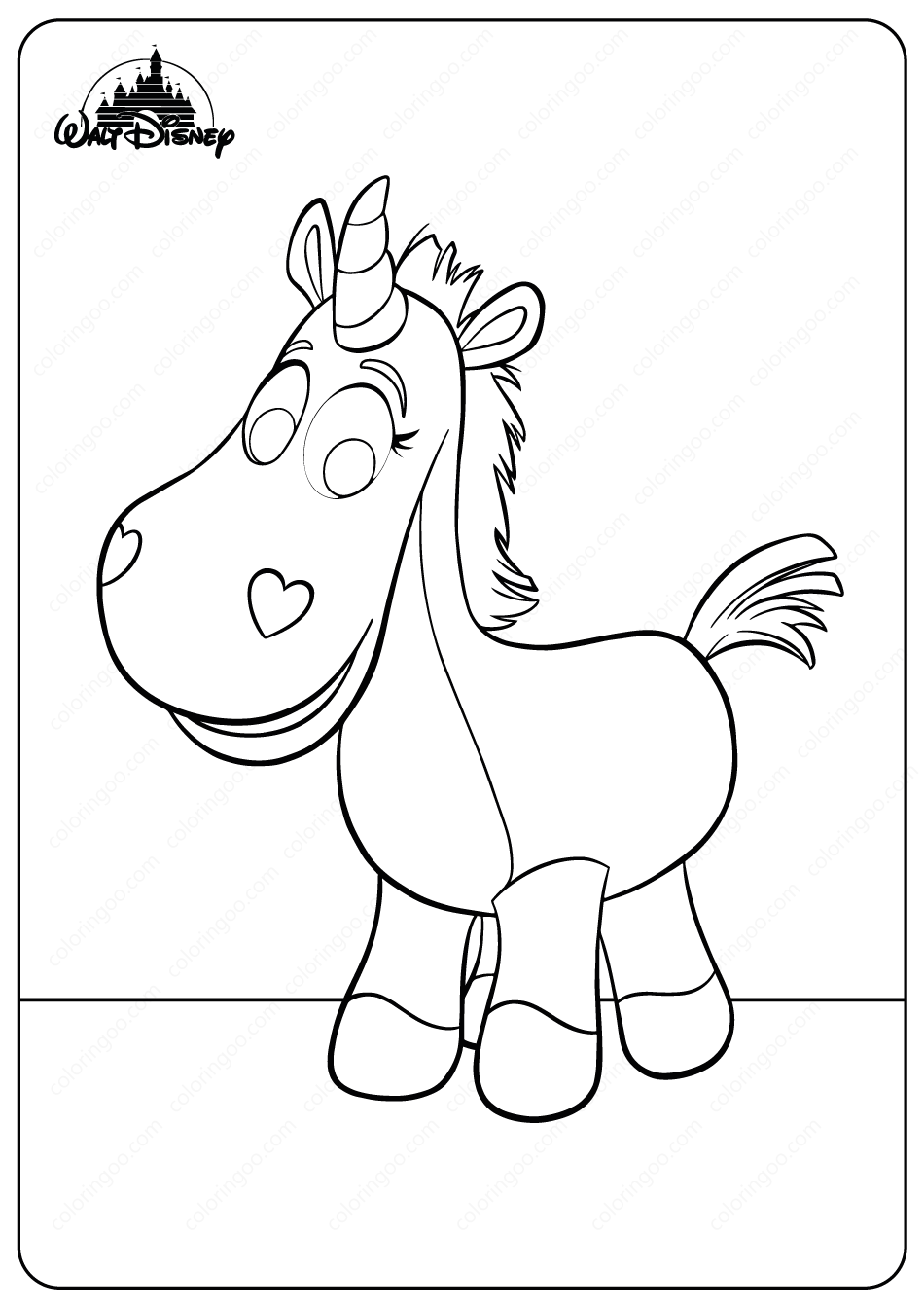 Buttercup Coloring Pages Coloring Pages Disney Unicorn Printables