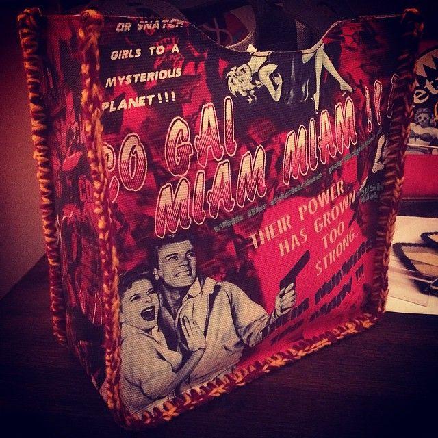 """#bashioma #tvsp #thevietnamesespaceprogram #bag #handbag #graphics #graphicdesign #beachbag #shoppingbag #summer #movie #merchandising #crochet #alternativefashion #designerbag #designer #com #chic #retro #bmovie #posters #saigonchic #mode #moda"" Photo taken by @bashioma on Instagram, pinned via the InstaPin iOS App! http://www.instapinapp.com (04/28/2015)"