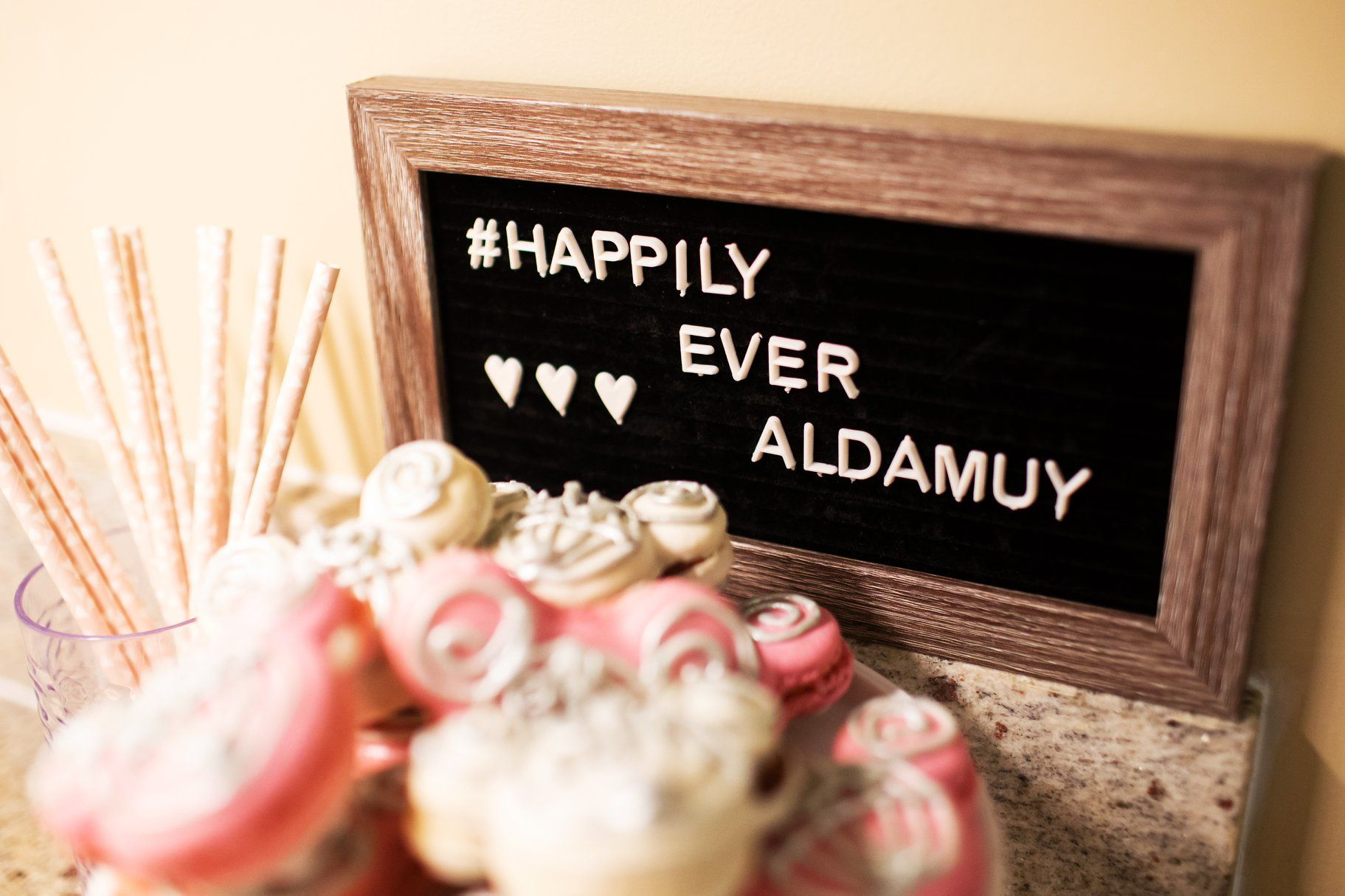 Letter boards are a great way to display your wedding