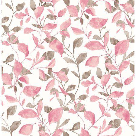 A-street Prints Catalina Trail Pink Vine Wallpaper
