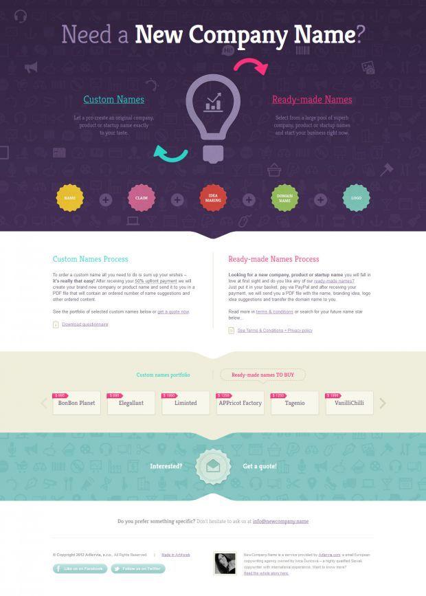 Newcompany Company Naming Service Best Website Web Design Inspiration Showcase Web Design Inspiration Web Design Company Names