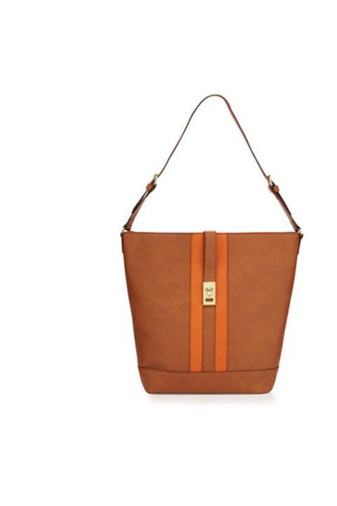 Striped Hobo Bag in Cognac/Orange, $85; lastcall.com.
