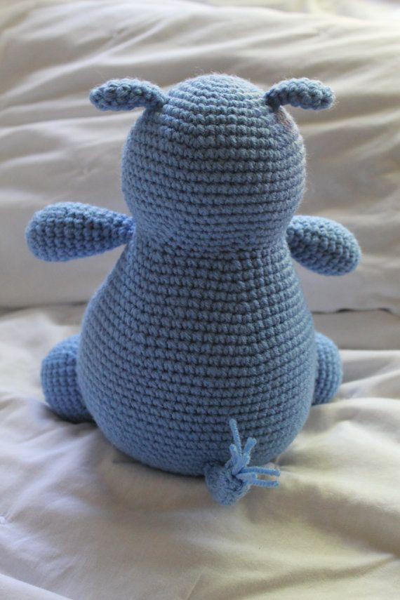 Hilda the Hippo - Crochet Amigurumi PATTERN ONLY (PDF)   Hipopótamo ...