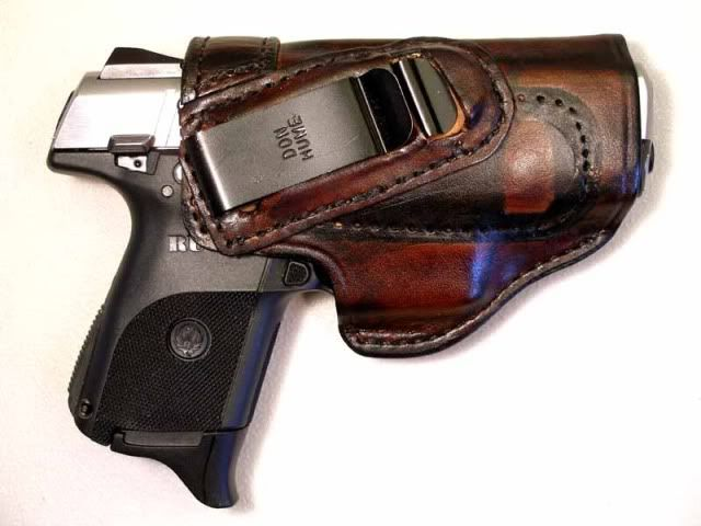 Ruger SR9c and Don Hume H715M IWC holster  Holster cost is about $30
