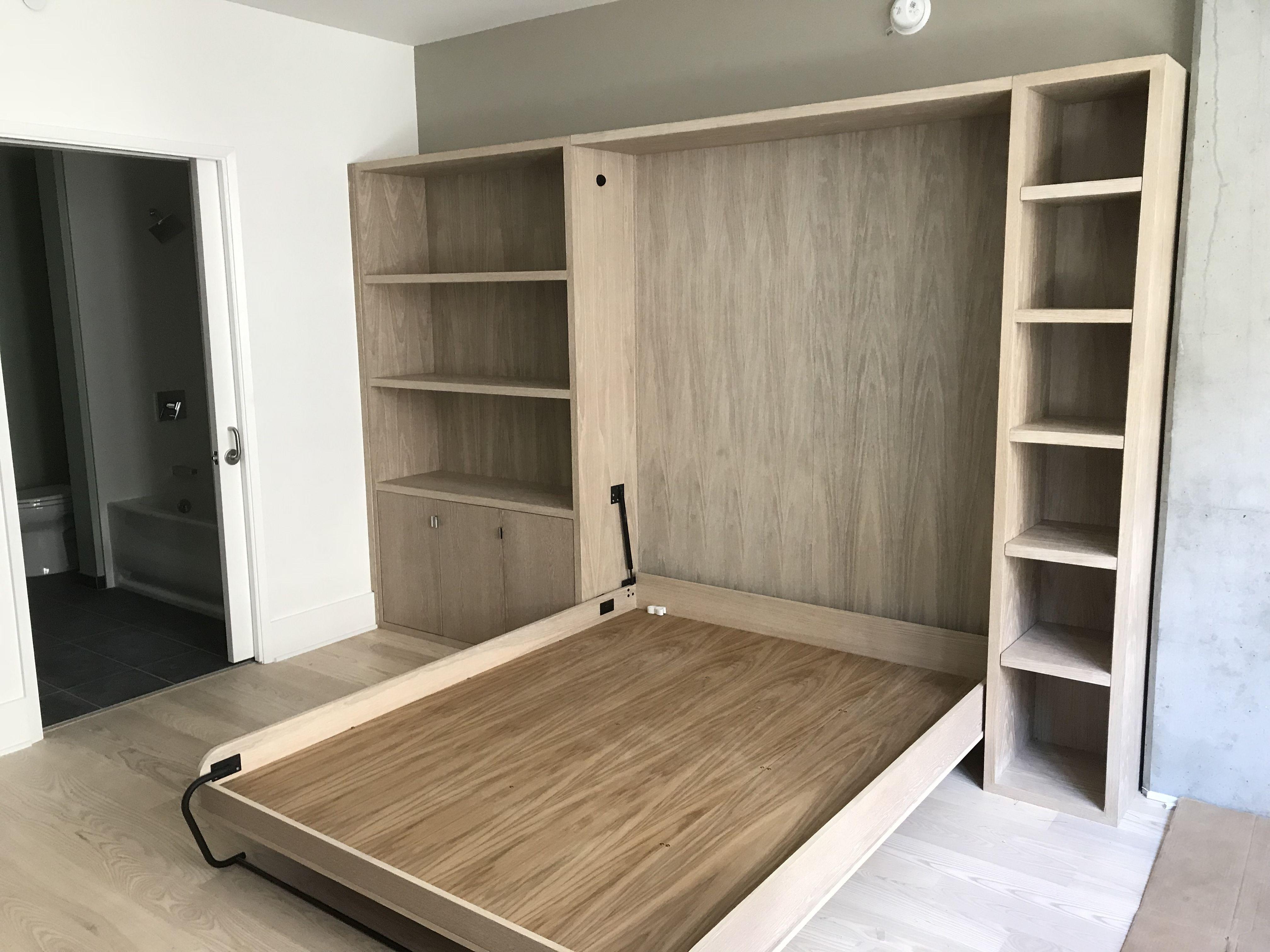 Murphy Bed With Storage In White Oak Lambert Holmes