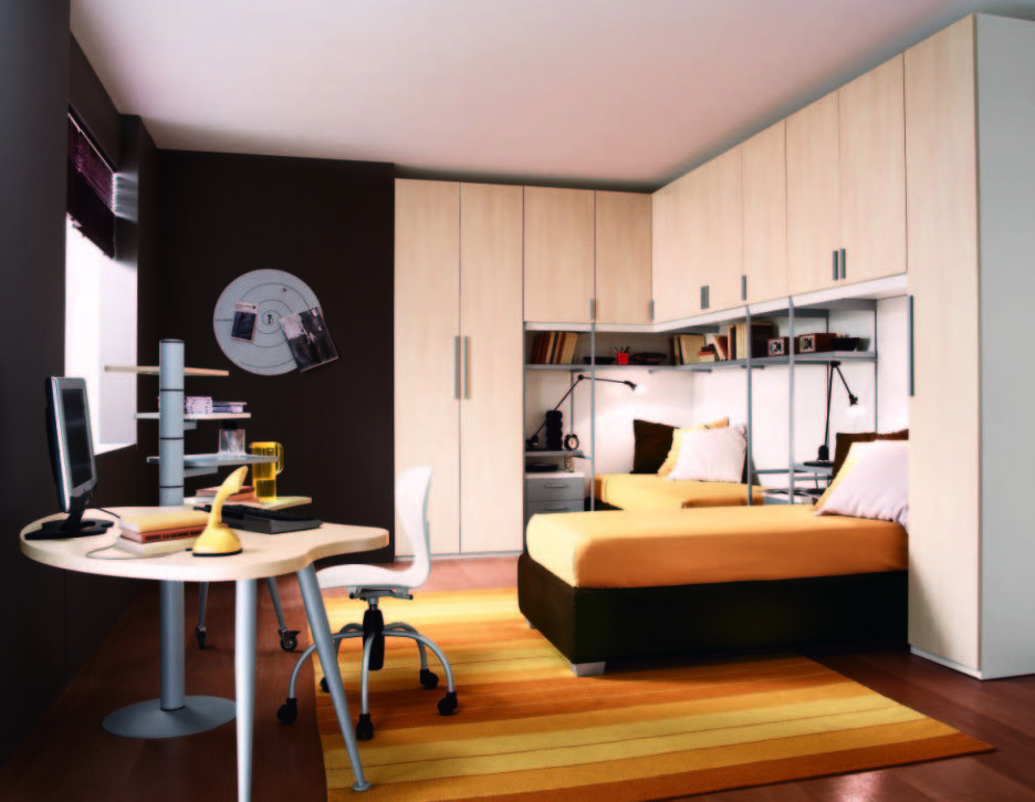 bedroom-modern-boys-bedroom-design-with-two-bunk-beds-using-light ...