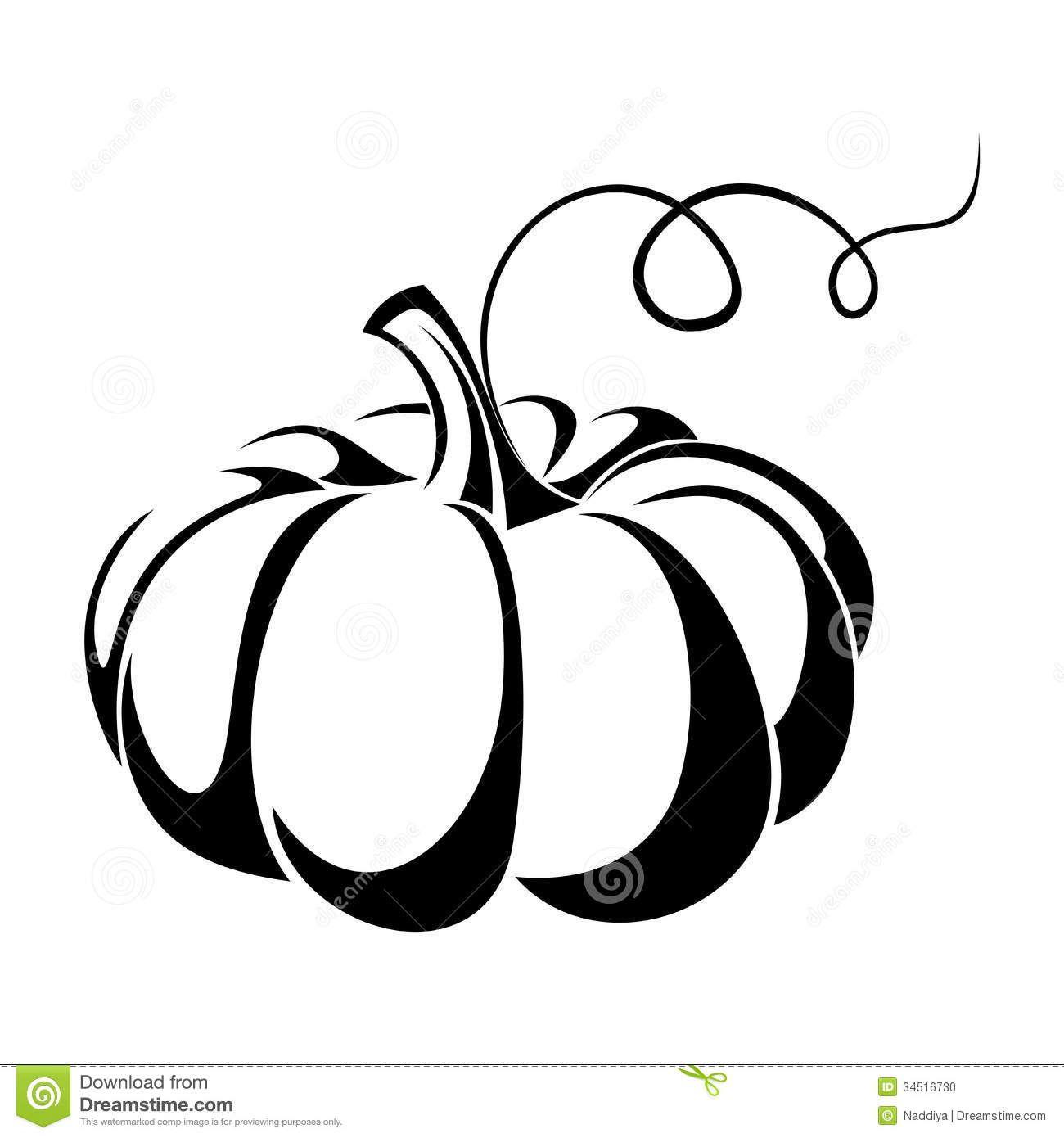 Pumpkin Black Silhouette