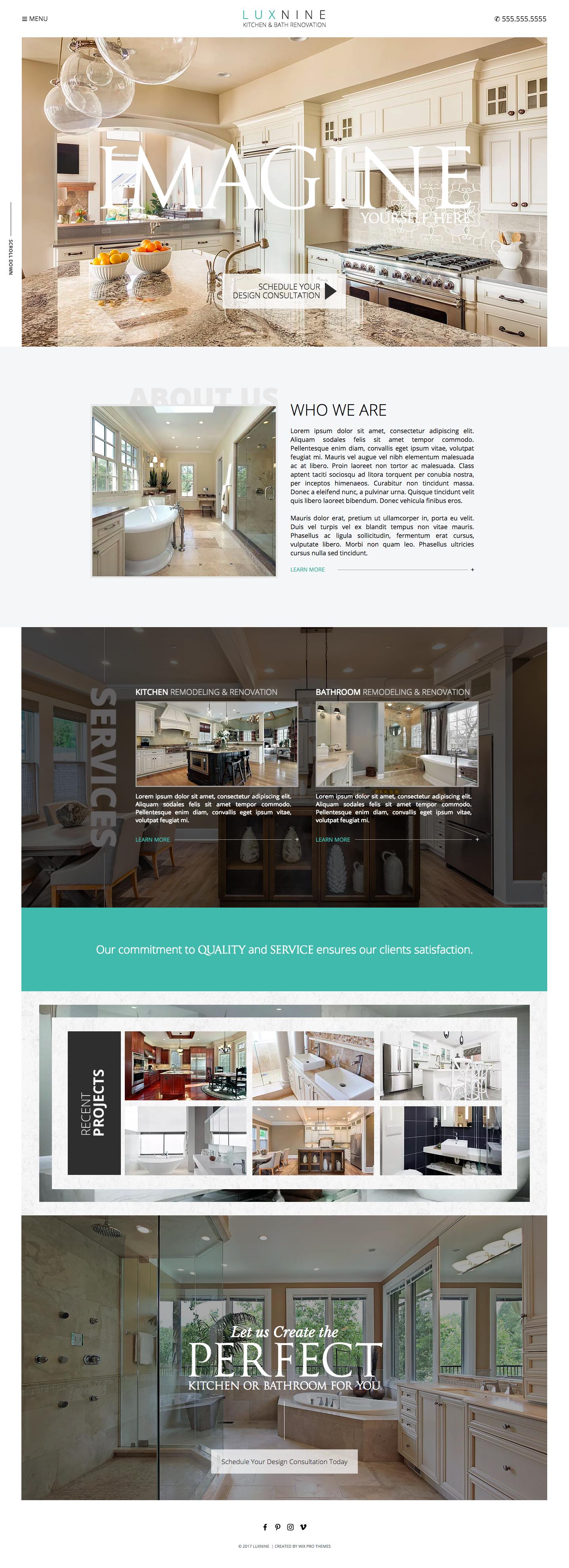 Kitchen & Bathroom Renovation Website Theme Template | Website ...