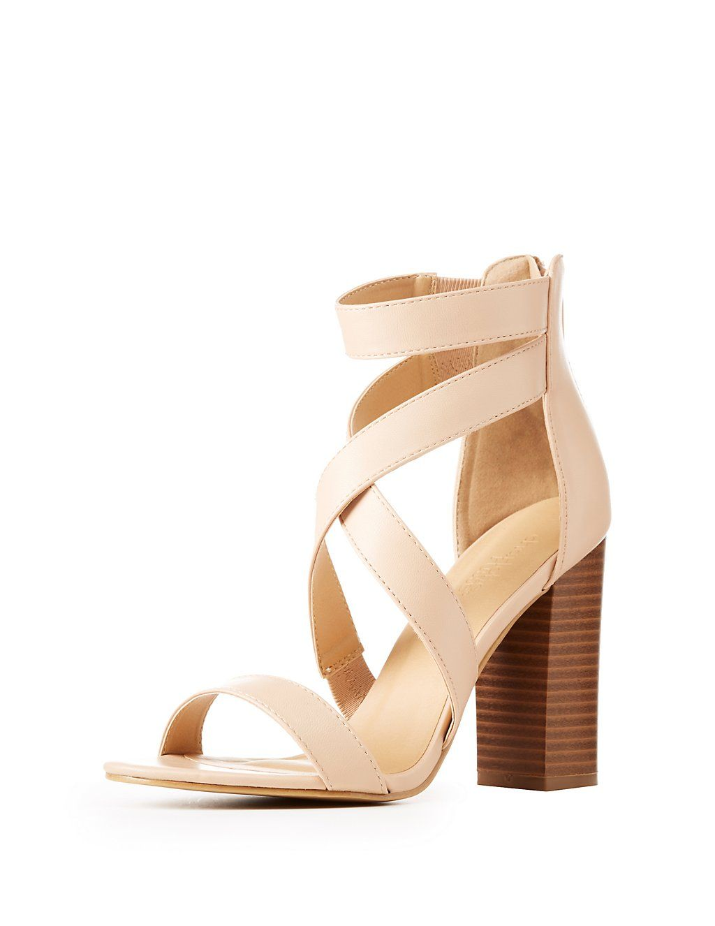7c278b556ec Caged Block Heel Sandals | Charlotte Russe | Fashion | Heels, Block ...
