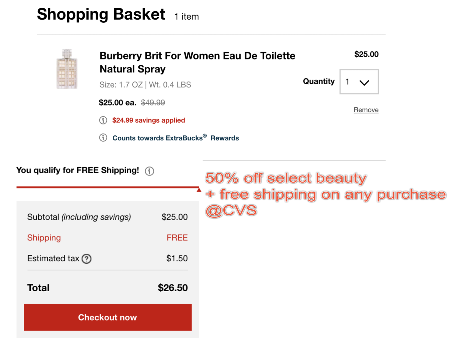 Cvs 50 Off Select Beauty Free Shipping On Any Purchase Free
