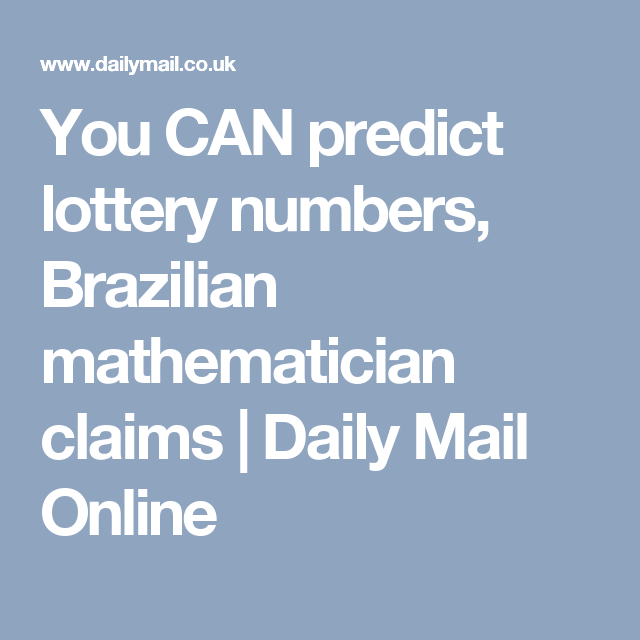 You CAN predict lottery numbers | roman | Lottery numbers, Lottery