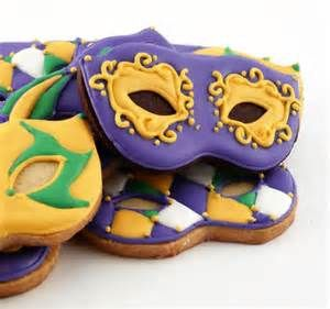 Decorated Cookies Mardi Gras Masks by katieduran on Etsy.
