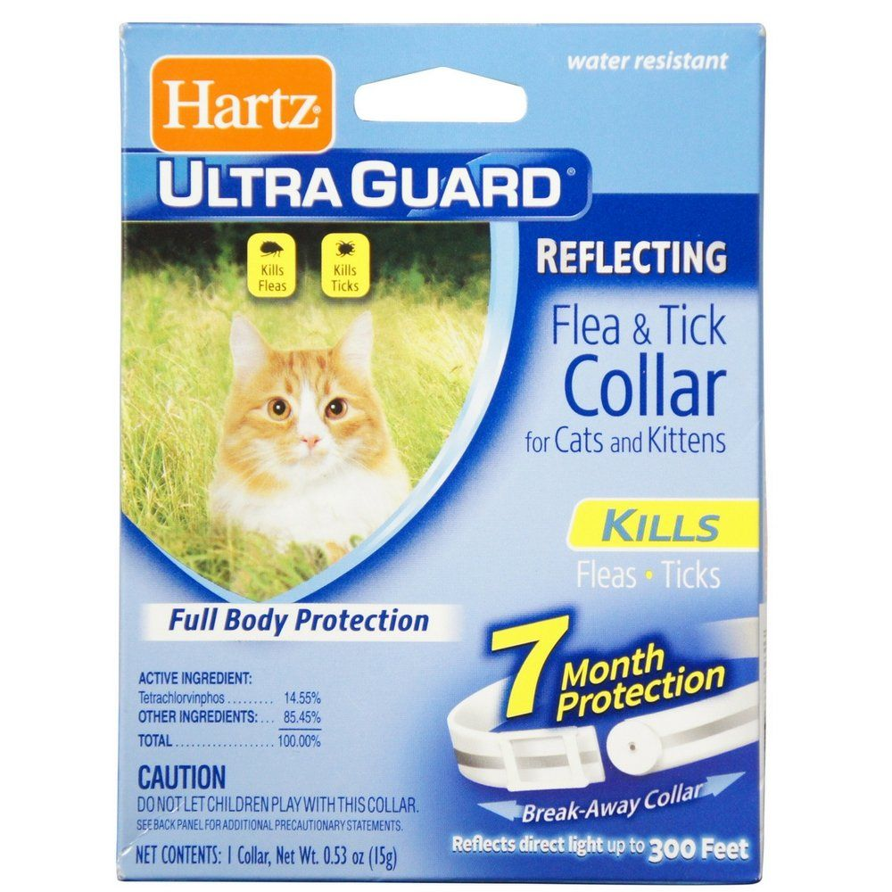 Hartz Ultra Guard Reflecting Flea And Tick Cat Collar 1 Each Pack Of 12 Thank You For Viewing Our Picture This Is Flea And Tick Cats And Kittens Fleas