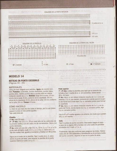 541 Boticas en punto de cocodrilo a Crochet o Ganchillo   Manos ...