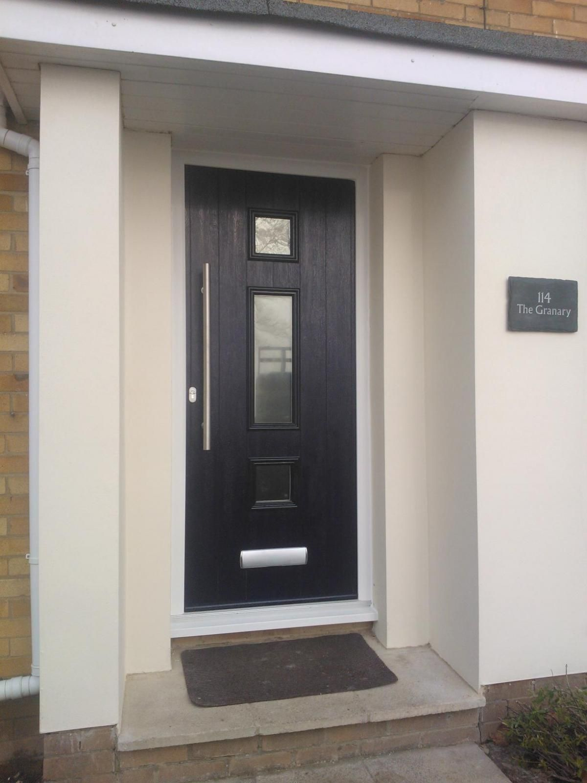 Modern front doors black - The Solidor Italia Range From Timber Composite Doors Timber Composite Doors Black Composite Doorgrey Front Doorsmodern