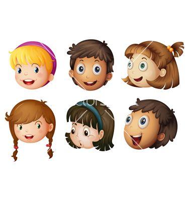 cartoon kids faces vector art download kids vectors 992193 - Download Cartoons For Kids