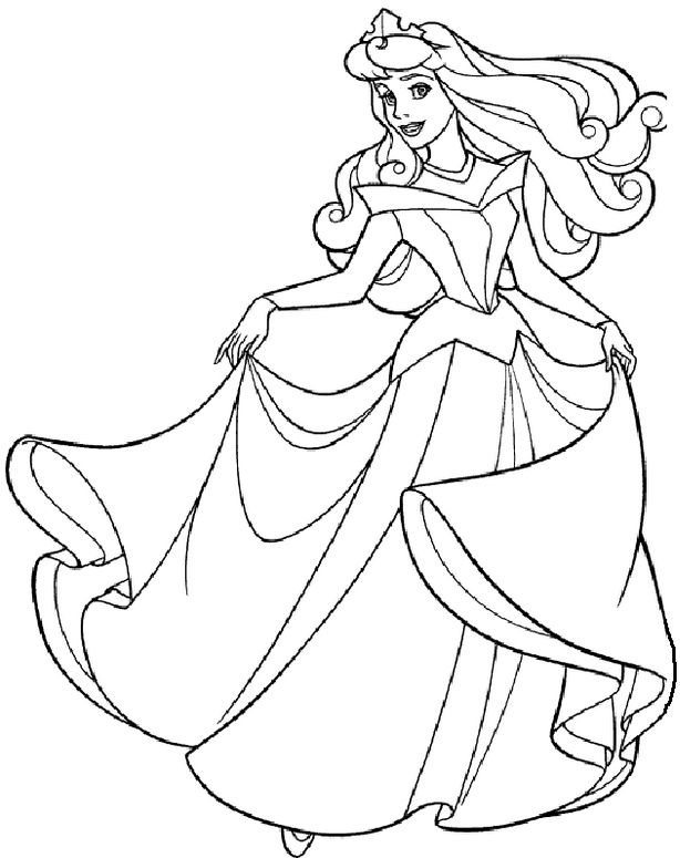 93+ Coloring Book Pictures Of Princess HD