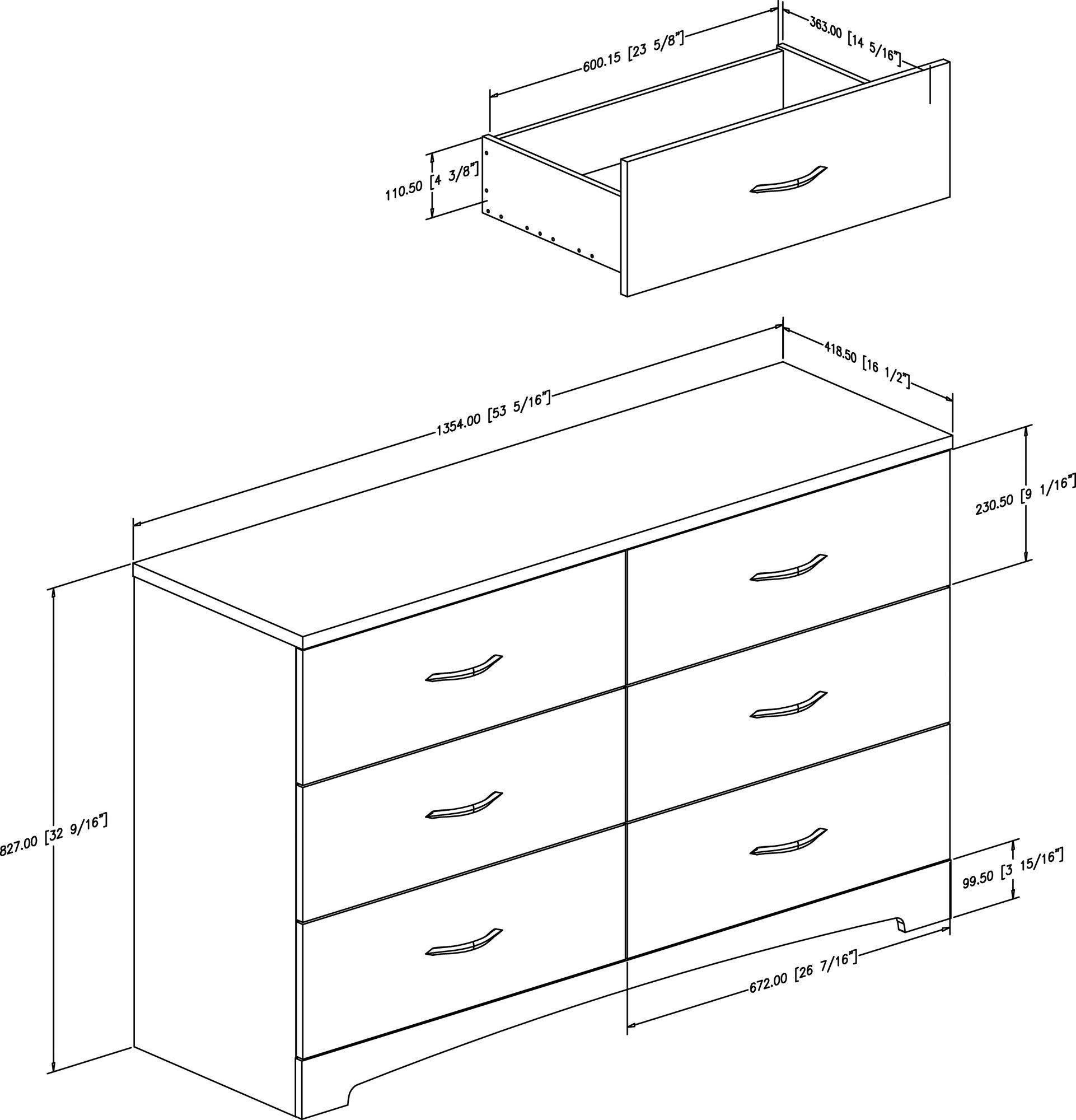 Step One 6 Drawer Double Dresser Planos De Muebles Ropero De Madera Muebles [ 2000 x 1922 Pixel ]