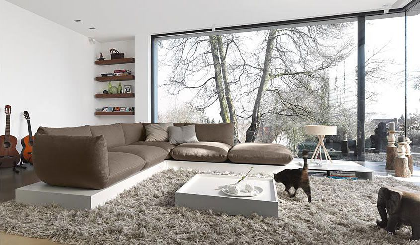 Sofa Design Ideen Für Modernes Wohnzimmer Hellgrau