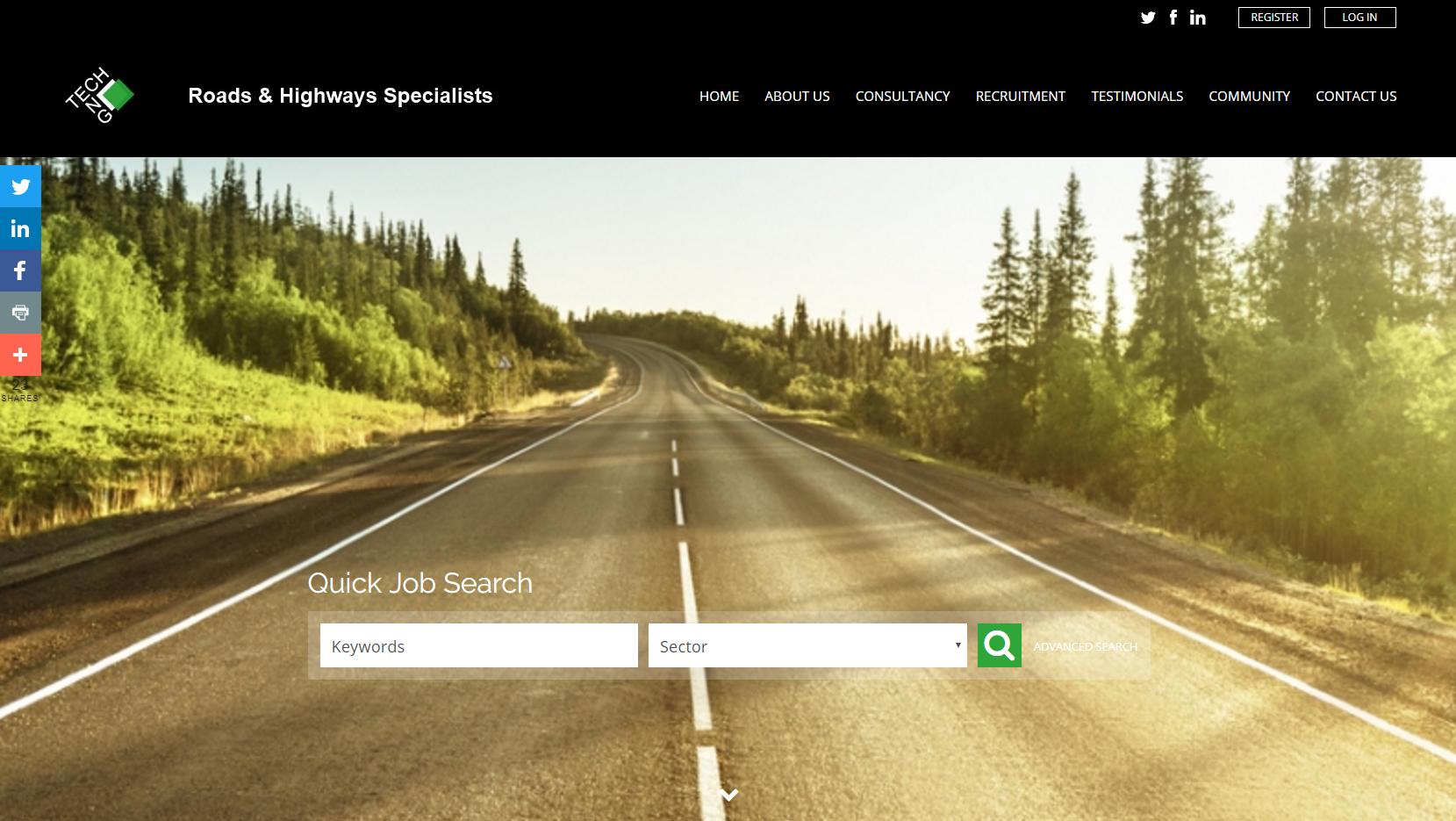 TechEng Ltd is a UK roads & highways specialist sector