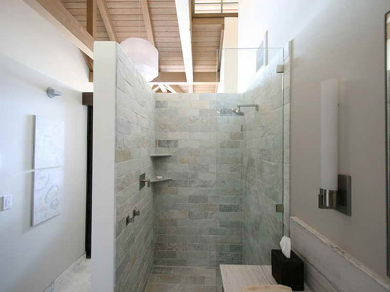 Doorless Walk In Bathroom Shower Design Ideas Pictures Bathroom Walk In Shower Pinterest