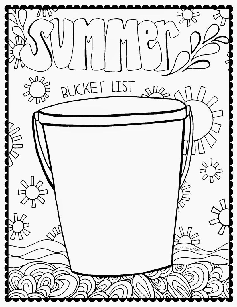 Archivo De Albumes Summer Bucket Lists Summer Workbooks Summer Coloring Pages