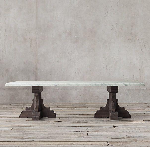 17th C French Bastide Oak Marble Rectangular Dining Table Dining Table Dining Table Marble Rectangular Dining Table