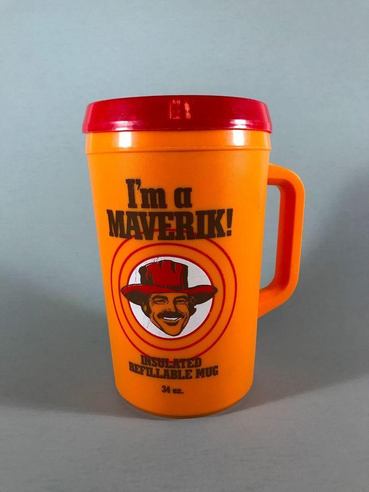 79094c22730 MAVERICK INSULATED MUG, Burt Reynolds insulated mug, gift for dad, vintage  mug #Aladdin