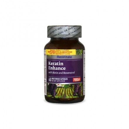 Rv Keratin Enhance 500 Mg 60 Caps Queratina Brilloso Cabello