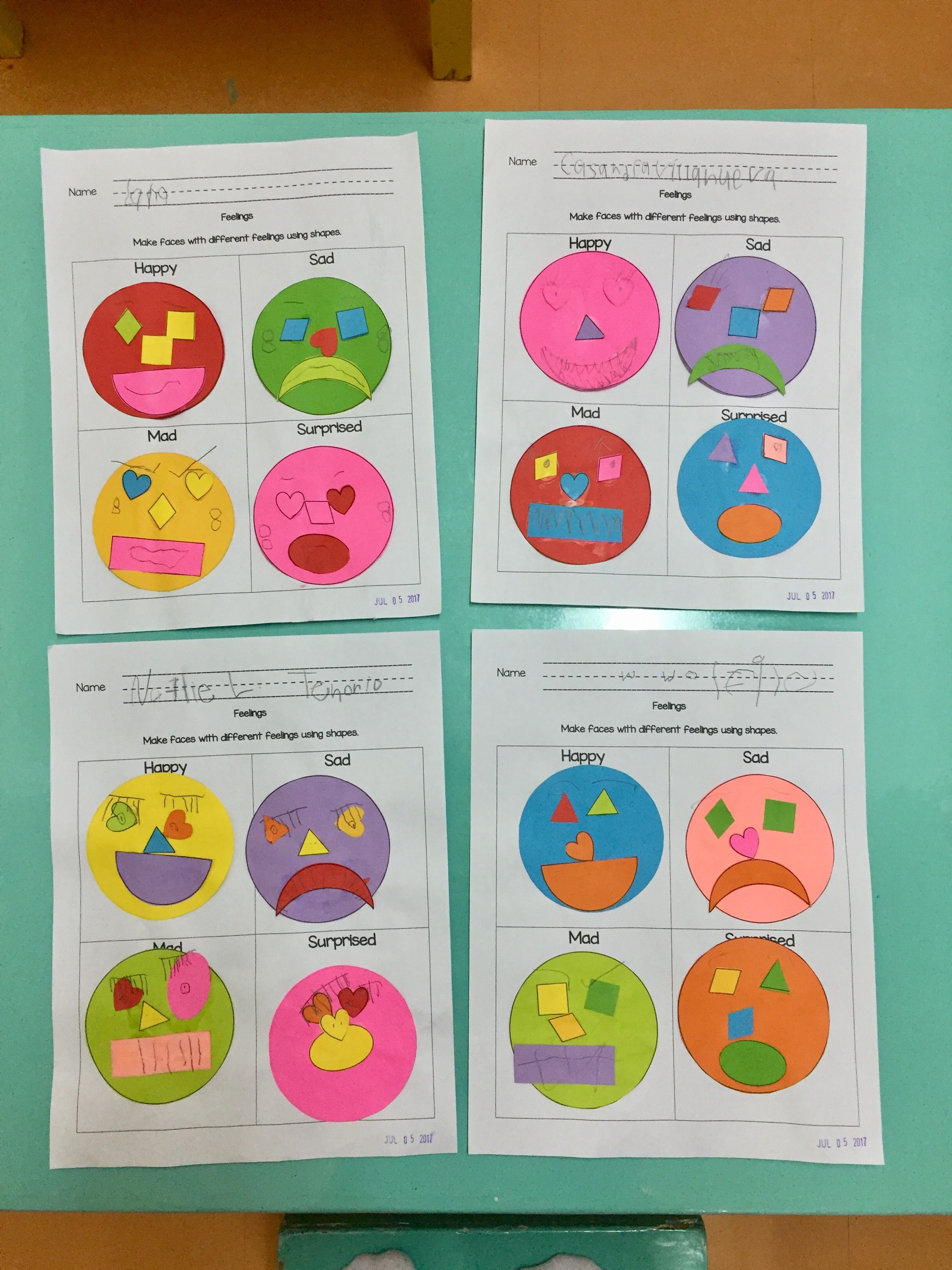 Shapes And Feelings Make Different Faces Using Different